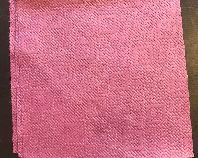 """12"""" x 12"""" Purple Basket Weave Leather- Violet Basket Weave Embossed Cow Leather.  for Handbags, Accessories, Leather Crafts, Shoes, Garments"""