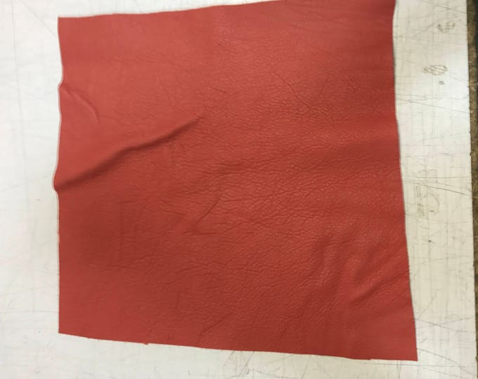 """12"""" x 12"""" Coral Reef Cow Leather: Soft Natural Pebble Grain Leather 2.5-3 oz. Perfect for Handbags, Shoes, Garments, and Leather Crafts!"""