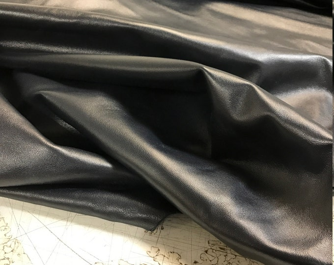 Navy Leather: Fine Italian Lambskin Perfect for Garments, Leather Crafts, and Handbags