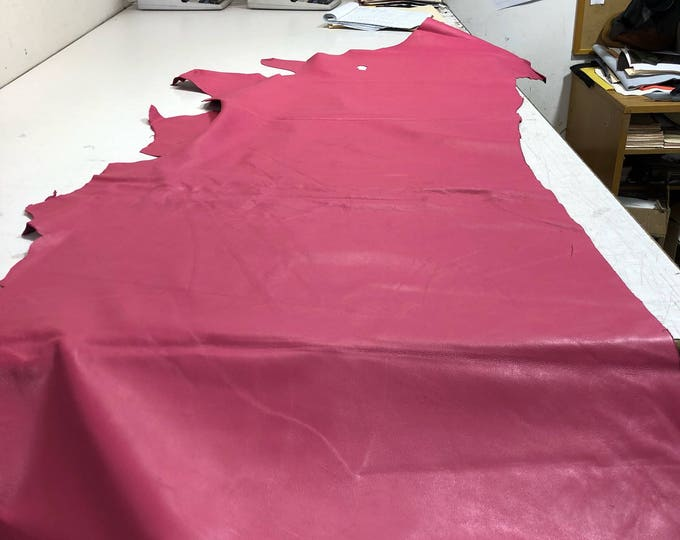 LIMITED OFFERING: Pink Natural Grain Cow Leather. Only 3 left! Perfect for Handbags, Shoes, Garments, Accessories, Leather Crafts