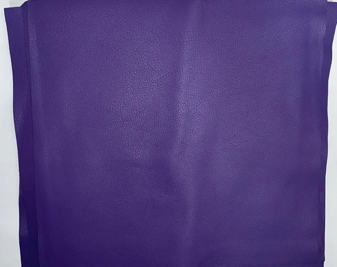 "12"" x 12"" Ultraviolet Cowhide Square Cuts: Natural Pebble Grain 3 oz Leather"