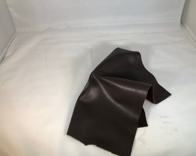 12 x 12 Chocolate Brown Leather Pieces 2.5-3 oz Leather Perfect for Handbags, Shoes, Garments, and LEATHER CRAFTS