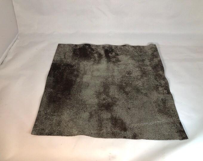 "12"" x 12"" Distressed Metallic: Dark Brown/Gold (1.1-1.3mm) Distressed Metallic Nubuck - Perfect for Handbags, Shoes, Garments, Accessories"