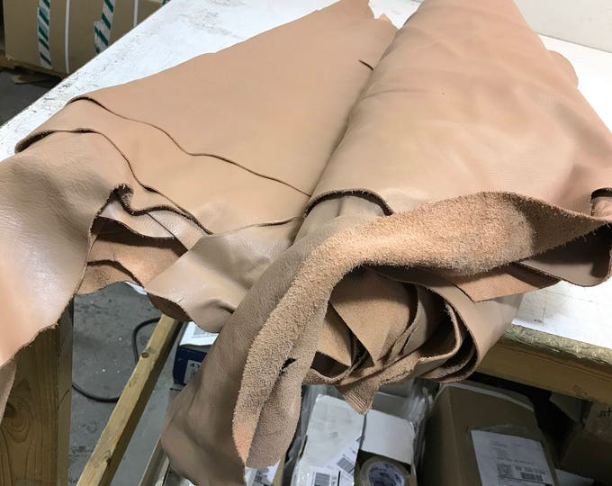 Blush Natural Grain Cow Leather- Perfect for Handbags, Shoes, Garments, Accessories, and Leather Crafts