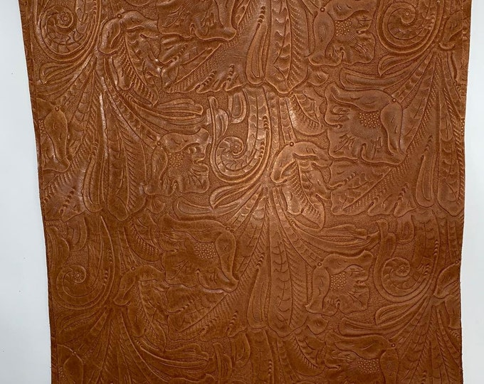 12 x 12 Whiskey Western Tool Cow Leather. Perfect for Handbags, Leather Earrings, Shoes, Garments, Leather Crafts