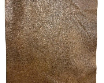 Espresso 8.5 x 11 Pre Cut Pieces Distressed Cowhide Pull Up Leather