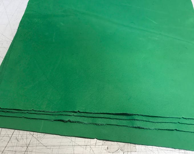 12'' x 12'' Mint Green Cowhide: Soft Natural Pebble Grain Leather 2.5-3 oz. Perfect for Handbags, Shoes, Garments, and Leather Crafts!