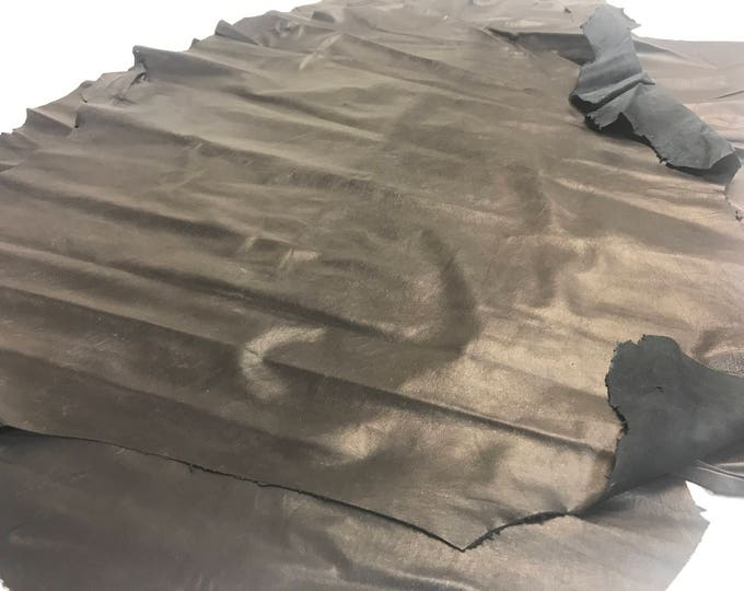LIMITED OFFERING: Black Italian Feather Lamb Skins. Only 3 Left! .3-.4 mm. Perfect for Garments and all Leather Craft needs