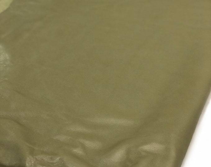 Olive Pebble Emboss Cow Leather. Perfect for Handbags, Shoes, Garments, Accessories, Leather Crafts, DIY, Earrings