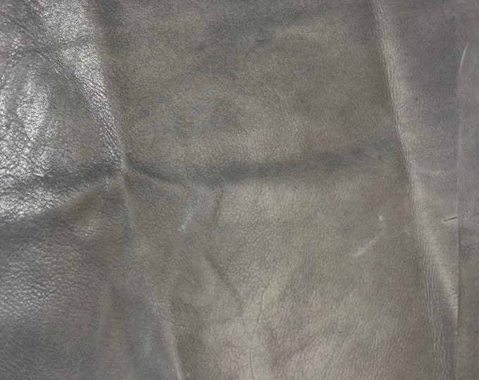 12 x 12 CUTTINGS Granite Distressed Cow Leather. Great for Handbags, Garments, Shoes, Accessories, Earrings, Jewelry and Leather Craft