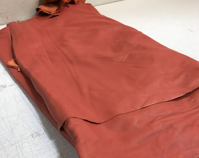 Coral Reef Cowhide: Soft Natural Pebble Grain Leather 2.5-3 oz. Perfect for Handbags, Shoes, Garments, and Leather Crafts!