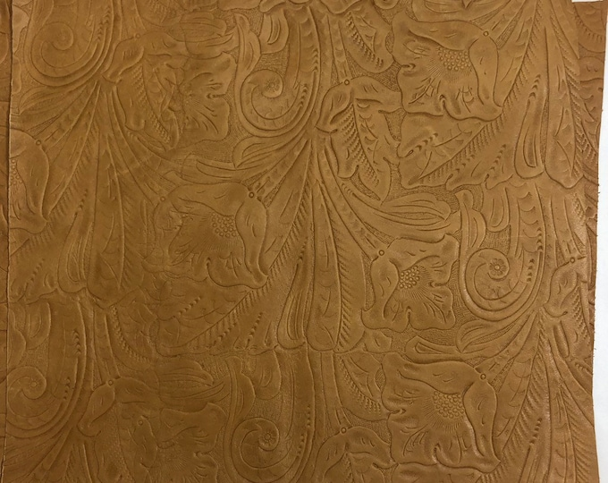 12 x 12 Dark Beige Western Tool Cow Leather. Perfect for Handbags, Leather Earrings, Shoes, Garments, Leather Crafts