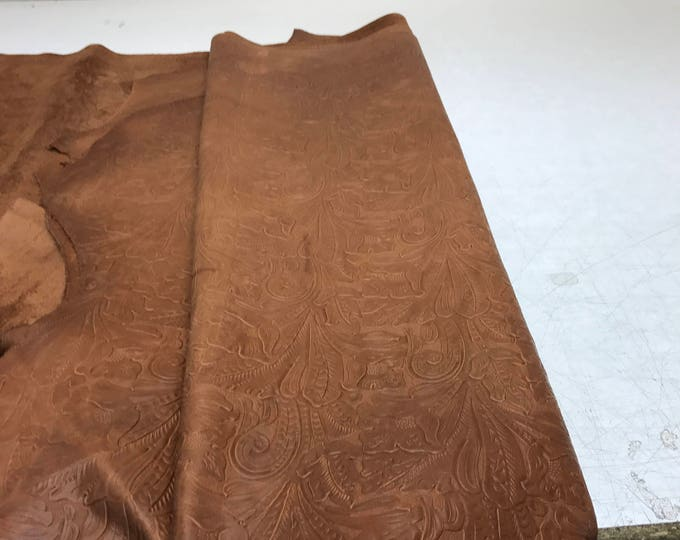 Brandy Large Floral Cow Leather- Perfect for Handbags, Garments, Shoes, Accessories, Leather Crafts, Small Leather Goods