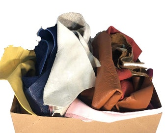 Full Grain Leather Scraps and Remnants: Sold by pound