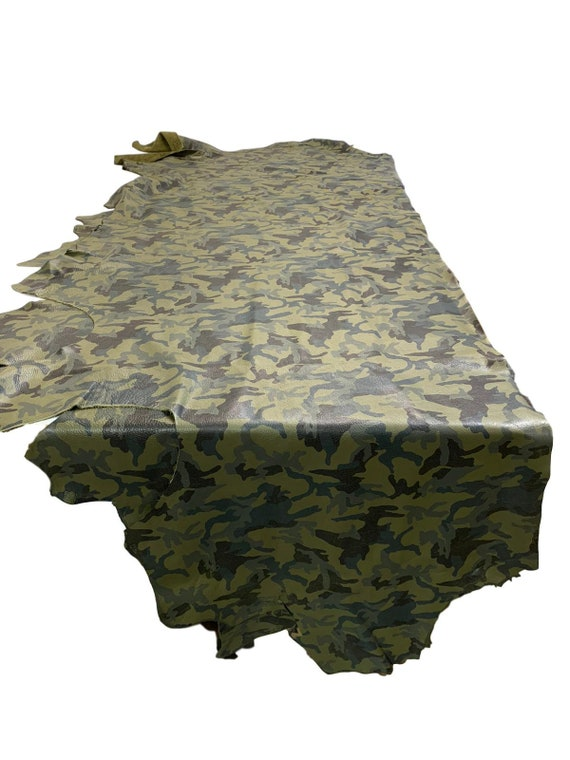 ARMY GREEN Cow Hide Leather Hide 9 Square Feet