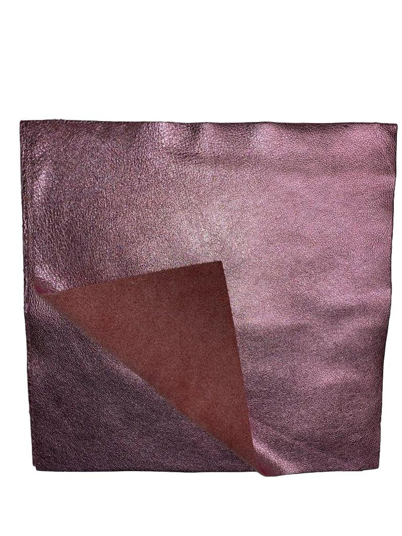 Pink Metallic Leather 12/'/' by 12/'/' pieces: Natural Grain Cow 2.5-3.0 oz Perfect for Handbags Crafts Jewelry 1.1-1.3 mm