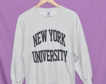 9057c1d2af4e Vintage 90s NEW YORK University Sweatshirt Sweater Small Size
