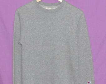 Vintage 90s Champion Small Embroidery Logo Sweatshirt Sweater Crewneck Small Size
