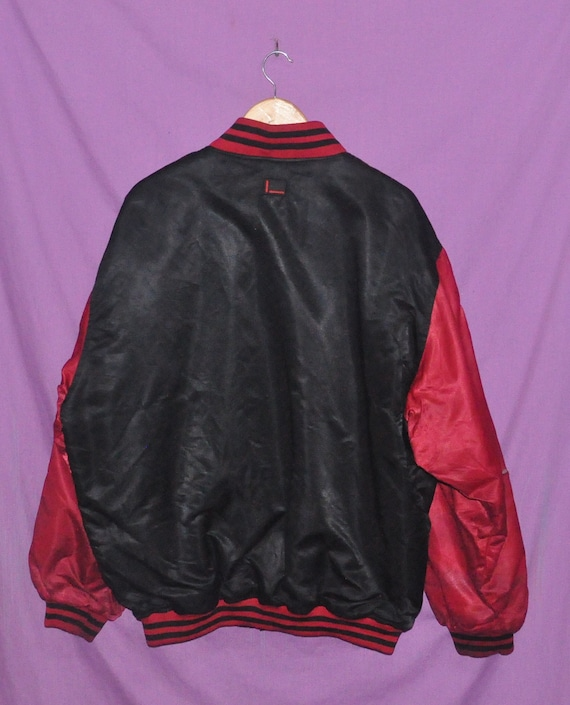 Fubu Red 90s Rap 05 Colour Made Embroidered Rapper Korea Black Logo Large Bomber Vintage In Hip Hop Jacket Size Big f5qqz4g