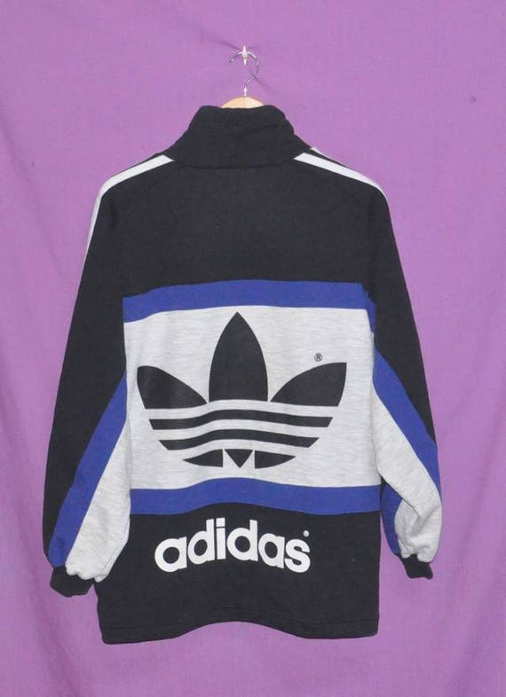 2fdc0c4ded1a Sweater Vintage Adidas Free Big 90s Hip Sweatshirt Size Swag Medium Trefoil  Jacket Shipping Logo Hop ...