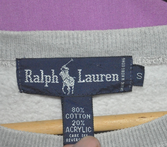 out Vintage Ralph Pullover Logo Sweater POLO Sweatshirt Embroidery Spell Lauren Crewneck FFRSqI