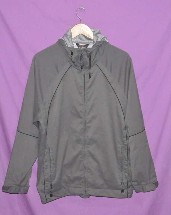 Vintage L.L BEAN Sweat à capuche coupe vent veste de taille moyenne
