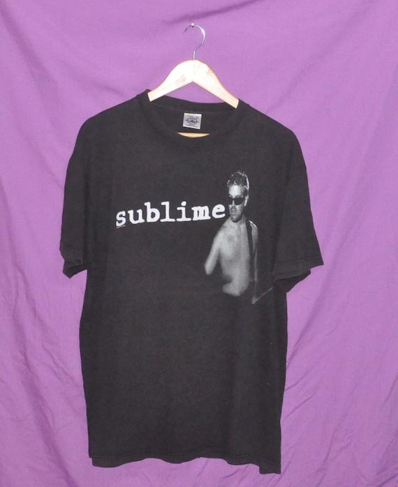 Vintage Rare Punk Ska Band Concert Promo Shirt T 90s SUBLIME Singles Metal Tour Album draqwrx