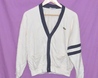 Vintage LA CHEMISE Lacoste Jumper Sweatshirt Pullover Crewneck Embroidered Logo Medium Size