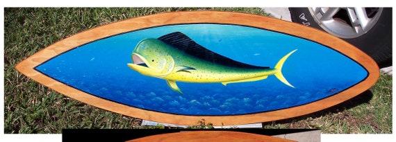 Mahi Mahi sea life wall art hand painted decor
