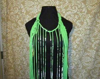 StrutArtwear Fringe Necklace Limelight