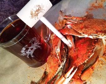 Maryland Crab Beer Mug & Crab Mallet