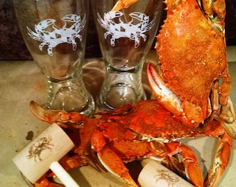Maryland Crab Beer and Mallet gift set
