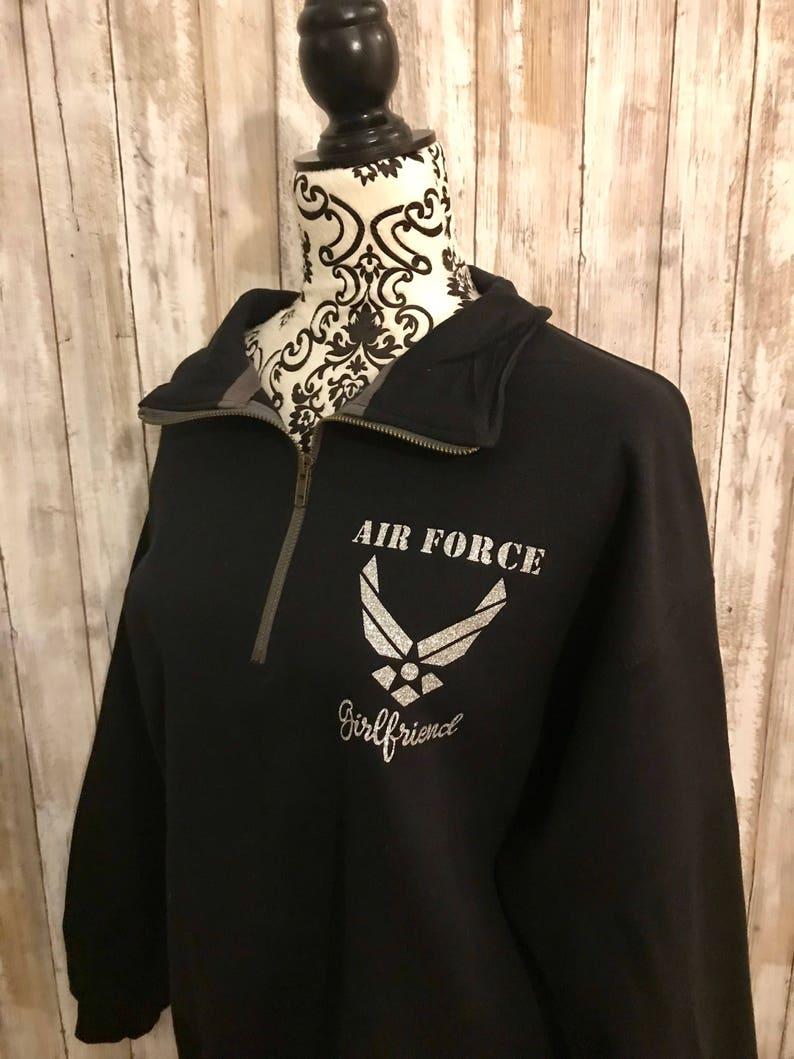 ccdf96f6a Air Force Quarter Zip Sweatshirt  Air Force Wife  Air Force
