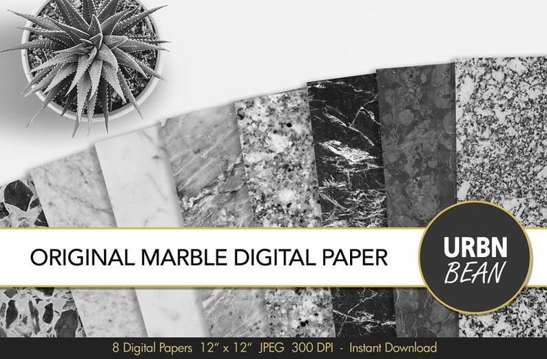Carta Digitale In Marmo Sfondo In Marmo Bianco E Nero Etsy