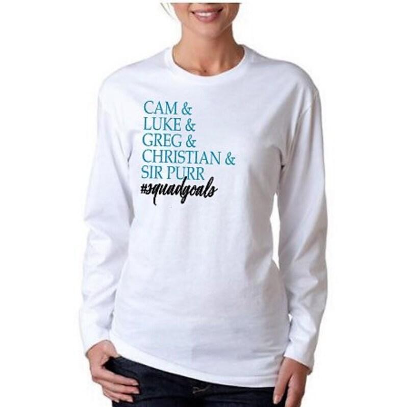 quality design d5368 9234b Carolina Panthers Squadgoals Tee ~ Women's Football Shirt ~ Ladies Panthers  Long Sleeve T Shirt