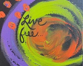 Original Acrylic Painting, Finger Painting