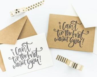 tie the knot invitations etsy