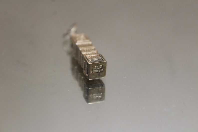 Vintage England Big Ben Clock Tower Charm in Yellow Gold 9k