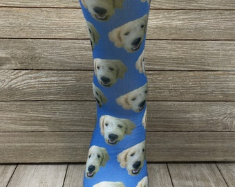 Custom Dog Photo Socks   Personalized Dog Socks  Custom Dog Birthday Gifts    Stocking Stuffers   Dog Lover Socks   Custom Photo Gift 737bd03de1