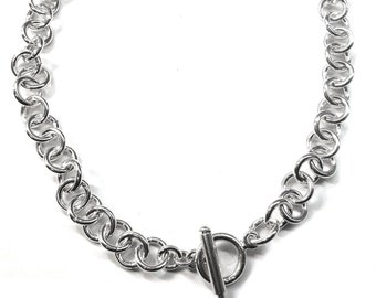 a8a5a4d38 Tiffany Style Link Chain Necklace w/Toggle Clasp in Sterling Silver,  Approx. 2 Ounces