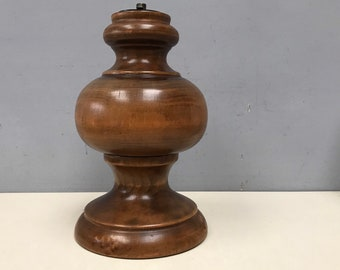 Vintage French wooden table Lamp Base  - Beautiful solid hardwood turned by craftsman