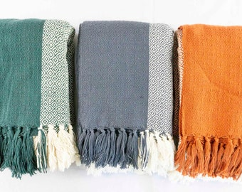 Hand woven Throw Blanket