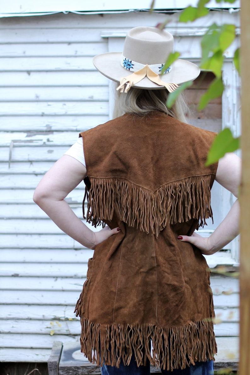 RARE Vintage Easy Rider 60s 70s Pioneer Wear Suede Leather Fringe Vest  Men/'s Medium M  Women/'s Medium M Women/'s Large L  Western Hippie