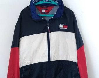 8592bf3b46a0b Vintage 90s Tommy Hilfiger jacket multicolor block