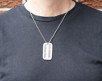 Wolverine X-Men Dog tag Logan Metal Pendant Name Necklace Army chain cosplay fan
