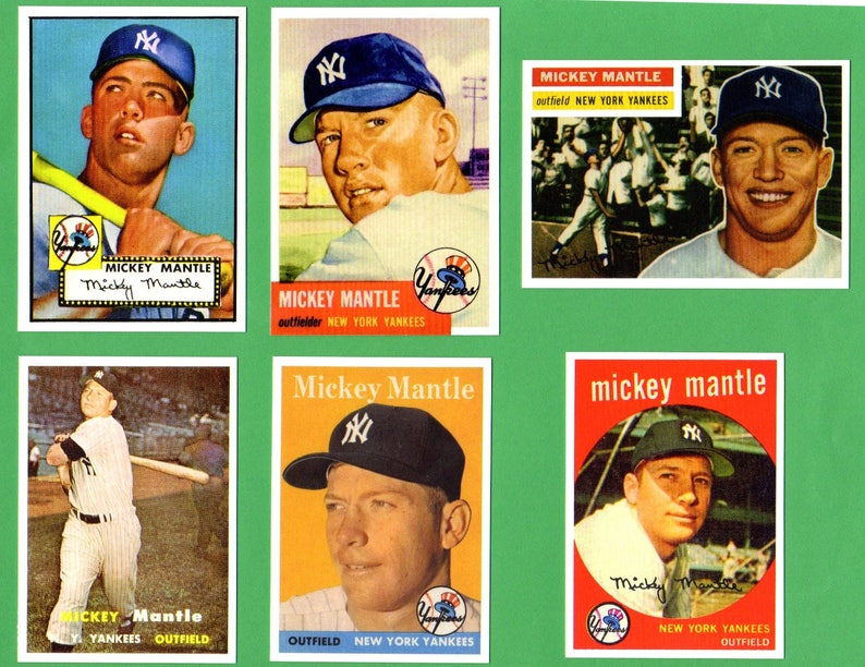 Choose Onemickey Mantle Topps Reprint Baseball Card 1952 Topps Rookie 1953 Topps 1956 Topps 1957 Topps 1958 Topps 1959 Topps