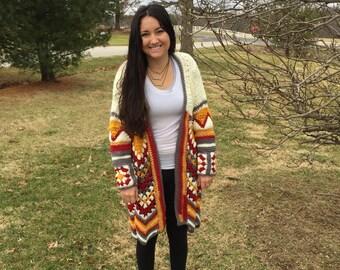 Tribal cardigan XL