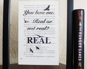 The Hunger Games • Real or not Real? • Book Quote • Mockingjay art • Book Page • Katniss • Peeta • Home Decor • Wall art • Bird print