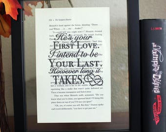 The Vampire Diaries • He's your first love • klaus mikaelson • Caroline Forbes • TV Shows • Wall Art • Book Quote • TVD decor