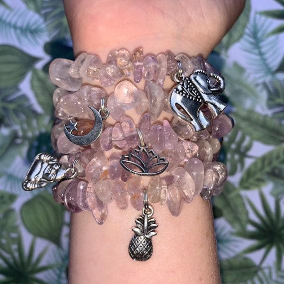 Indian Elephant bracelet charm~ Buddha bracelet charm~Lotus flower charm~silver